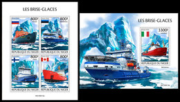 NIGER 2019 - Icebreakers, M/S + S/S. Official Issue [NIG190513] - Ships