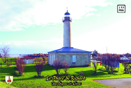 Set 6 Cartes Postales, Phares, Lighthouses Of Europe, France, Jau-Dignac-et-Loirac, Le Phare De Richard - Leuchttürme