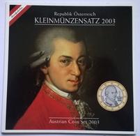 COFFRET BU - AUTRICHE - 2003 - 1cts à 2€ (8 Pièces) - Oostenrijk
