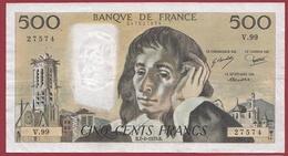 """500 Francs """"Pascal"""" Du 07/06/1979.B--F/TTB+---ALPH.V.99 - 500 F 1968-1993 ''Pascal''"""
