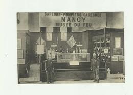 POMPIERS - 54 - NANCY - Casernes De Nancy Musée Du Feu Animé 2 Pompiers Bon état - Sapeurs-Pompiers