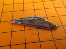 611b Pin's Pins : BEAU ET RARE : Thème TGV / TGV ARGENT ET BLEU Par DECAT PARIS - TGV
