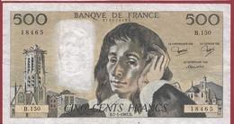 """500 Francs """"Pascal"""" Du 07/01/1982.D--F/TTB+---ALPH.B.150 - 1962-1997 ''Francs''"""