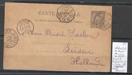 France - Lettre Ligne N -1891 - Octogonal - Pour Leiden - Pays Bas - Marcofilia (sobres)