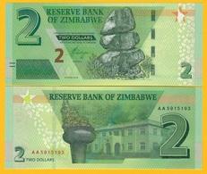 Zimbabwe 2 Dollars P-new 2019 UNC Banknote - Zimbabwe