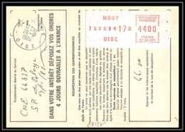 54422 Mouy Oise Vignette EMA Ordre De Reexpedition Temporaire France - EMA (Empreintes Machines à Affranchir)