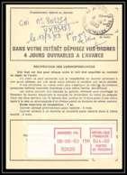 54426 Asnieres Haut De Seine Ironde Vignette EMA Ordre De Reexpedition Temporaire France - Marcophilie (Lettres)