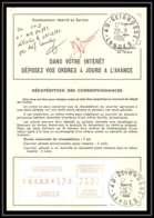 54432 Seignosses Landes Vignette EMA Ordre De Reexpedition Temporaire France - Freistempel