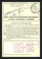 54445 Libourne Gironde Vignette EMA Ordre De Reexpedition Temporaire France - EMA (Empreintes Machines à Affranchir)