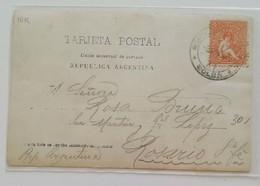 Cartolina Postale Montevideo-Rosario - Uruguay