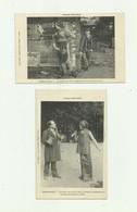 """GUERRE 14 -18 - POILU'S PARK - 4 CP - En Attendant Le Concert Et Scenes Duetistes """"bert Gyll Et Mézy Bon état - Weltkrieg 1914-18"""