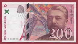 """200 Francs """"Eiffel"""" 1996--VF/SUP---ALPH.N--Numéro .038673454 - 1992-2000 Dernière Gamme"""