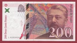 """200 Francs """"Eiffel"""" 1996--XF/SUP+---ALPH.L--Numéro .029202813 - 1992-2000 Aktuelle Serie"""