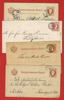 Postkarten, &  G A 10 Verschiedene Fingerhutstempel 3 Scan - 1850-1918 Empire