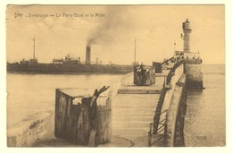A0482[Postkaart] Zeebrugge - Le Ferry Boat Et Le Môle (Star, De Graeve) [Brugge Stoomboot Vuurtoren] - Brugge