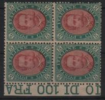 1889 Umberto I 5 L. Quartina MNH/MLH - Ungebraucht