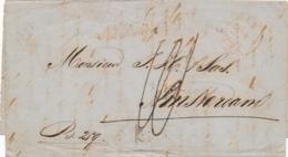 Nederland - 1857 - Complete Vouwbrief Van TERNEUZEN - Na Posttijd - Naar Amsterdam - Holanda