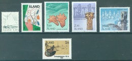 ALAND - 1986 - MNH/*** LUXE - YEAR COMPLETE - Yv 14-19 - Lot 20769 - Aland