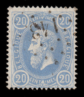 COB N°31a  - Obl. Losange De Points - Bureau N° 143 (GEDINNE) - 1869-1883 Leopold II.