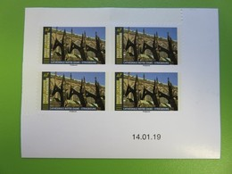 Timbre France YT N° 1675 AA - Architecture - Cathédrale Notre-Dame (Strasbourg) - 4 Timbres Avec Coin Daté - 14.01.19 - 2010-....