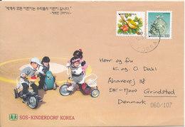 Korea South Cover Sent To Denmark 5-3-2003 (SOS Kinderdorf Korea) Nice Cover With Cachet - Corée Du Sud