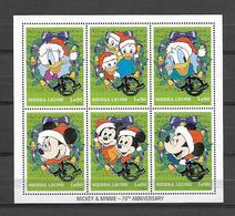 Disney Sierra Leone 1998 Christmas W Ovp MS MNH - Disney