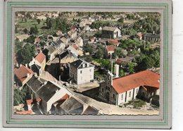 CPSM Dentelée - LAVAVEIX-les-MINES (23) - Vue Aérienne Du Centre, Mairie Et Eglise - Carte Colorisée 1950 / 60 - Autres Communes