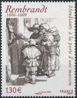 FRANCE Poste 3984 ** Tableau REMBRANDT : Mendiants à La Porte D'une Maison (1648) - Eau Forte - Unused Stamps