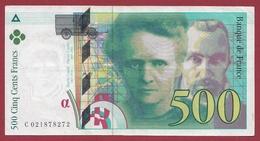 """500 Francs """"Pierre Et Marie Curie """" 1994--VF/SUP ---ALPH.C--Numéro .021878272 - 500 F 1994-2000 ''Pierre Et Marie Curie''"""