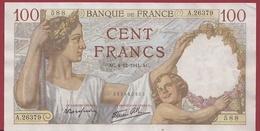 "100 Francs ""Sully "" Du 04/12/1941.AC--VF/SUP ---ALPH.A.26379--AUCUN TROU D EPINGLE - 1871-1952 Circulated During XXth"