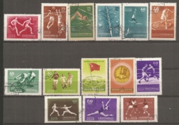 RUSSIE -  Yv N°  1829 à 1842  Complet  (o)  Spartiakiades Sports Cote 5 Euro  TBE - 1923-1991 UdSSR