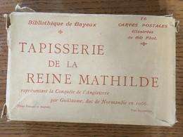 78 CPA Illustrées ( Carnet, Enveloppe), Bibliothèque De Bayeux, Tapisserie De La Reine Mathilde, éd ND Phot. - Bayeux