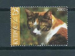 2002 Cyprus Cats,dieren,tiere Used/gebruikt/oblitere - Cyprus (Republic)