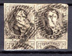 6 En Paire Oblitéré - 1851-1857 Médaillons (6/8)