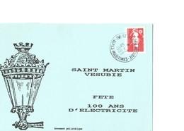 Souvenir Philatélique De La Fête Des 100 Ans De L' électricité à St Martin Vésubie (alpes Maritimes) - Altri