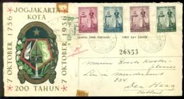 Indonesie 1956 Aangetekende FDC 100 Jaar Jogjakarta - Indonesië