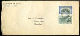 Liberia 1950 Cover To Djakarta With Scott # 317 And 324 - Liberia