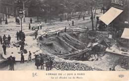 EVENEMENTS Catastrophe - 75 - PARIS 8 / 9 ème  : L'ORAGE Du 15 JUIN - Le Sol Effondré Rue Du Havre - CPA- - Catastrophes