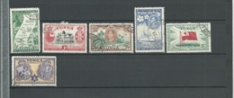 Tonga 1951 Sg 95-100 Set Used And 1953 Sg 101 - 110 Short Set Used 2 Scans - Tonga (...-1970)