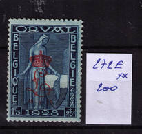 LIQUIDATION ORVAL ** / MNH N° 272 E COB 200  A 23,90 - Unused Stamps