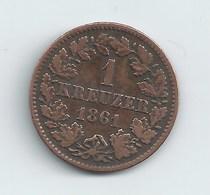 DUCHE DE NASSAU 1 KREUZER 1861 - [ 1] …-1871: Altdeutschland