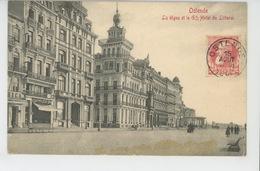 BELGIQUE - OSTENDE - OOSTENDE - La Digue Et Le GRAND HOTEL DU LITTORAL - Oostende