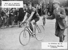 PHOTO - CRITERIUM DES AS - LE VAINQUEUR, MARCILLAC A L'ARRIVEE (1927?) - Wielrennen