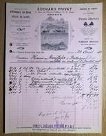 60011 - Facture Edouard Privat Eponges En Gros Vieux Collège 4 Genève  30 Avril 1913 - Suisse