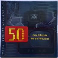 COFFRET BU - BELGIQUE - 2003 (50ans De Télévision) - 1cts à 2€ + Médaille Comm. (8 Pièces+ 1 Médaille) - België