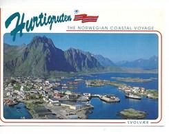 NORVEGE / HURTIGRUTEN : The NORWEGIAN COASTAL VOYAGE / CPM (SVOLVAER N° 92-1158) Voyagée 1993  / TBE - Norwegen