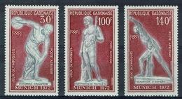Gabon, Munich Summer Olympics, 1972, MNH VF airmail Complete Set Of 3 - Gabon