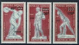 Gabon, Gold Medals, Munich Summer Olympics, 1972, MNH VF airmail Complete Set Of 3 - Gabon (1960-...)
