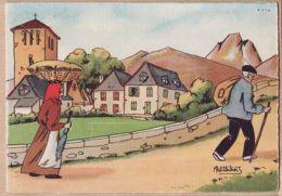 Nw641 BARRE & DAYEZ 1393-B En BEARN En ROUTE Pour Le MARCHE Illustrateur PETITDIDIER Depot 1946-2 N° 578 Cpagr - Illustrators & Photographers