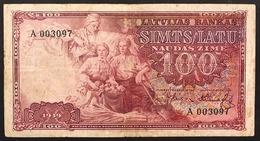 Lettonia Latvia  100 Lati 1939 Pick#22 Lotto 3053 - Lettonie